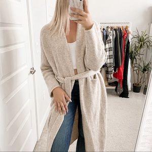 Lauren Manoogian Fluffy Robe Coat Beige